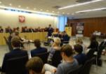 Uczestnicy finału II Turnieju Debat Oksfordzkich o Tematyce Społeczno-Prawnej w Naczelnym Sądzie Administracyjnym